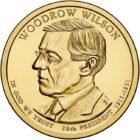 1 доллар 2013 года Вудро Вильсон ( Woodrow Wilson 28 президент)