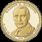 1 доллар 2014 года Уоррен Гардинг ( Warren G. Harding 29 президент)