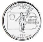 25 центов США Штат Пенсильвания