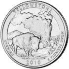 25 центов США Йеллоустонский национальный парк Вайоминг