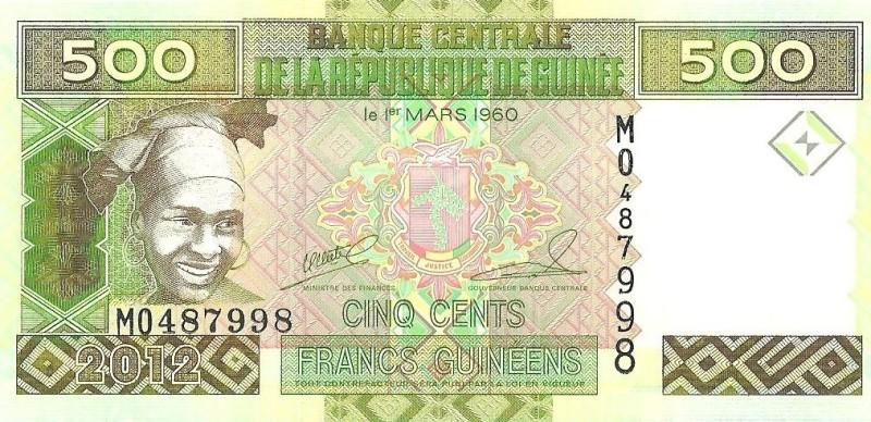 500 фрaнкoв Гвинeя