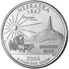 25 центов США Штат Небраска