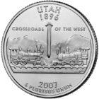 25 центов США Штат Юта