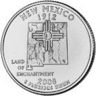 25 центов США Штат Нью-Мексико