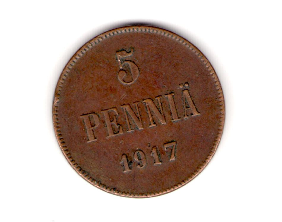 5 penniä 1917