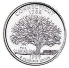25 центов США Штат Коннектикут