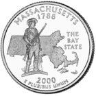 25 центов США Штат Массачусетс