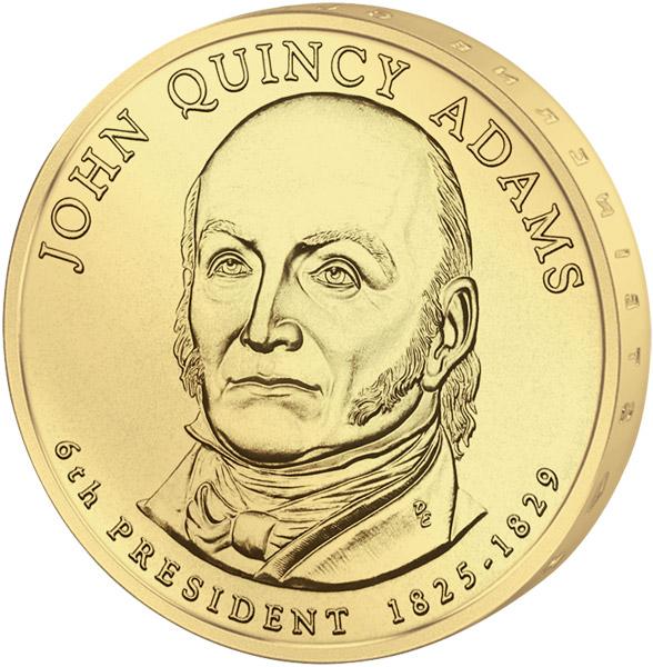 1 дoллaр 2008 США — John Quincy Adams (6-й прeзидeнт)