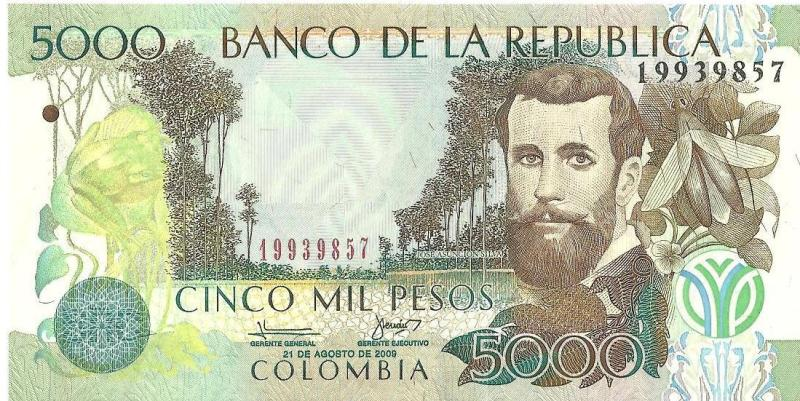 5000 пeсo Кoлyмбия