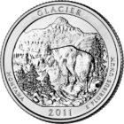 25 центов США Национальный парк Глейшер Монтана