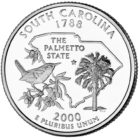 25 центов США Штат Южная Каролина