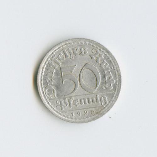 50 пфеннигов 1920 года