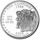 25 центов США Штат Нью-Гэмпшир