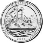 25 центов США Национальный парк Виксбург Миссисипи