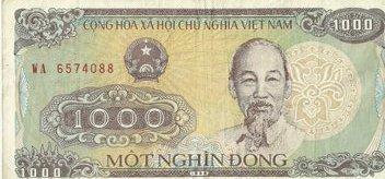 1000 донг. Вьетнам.