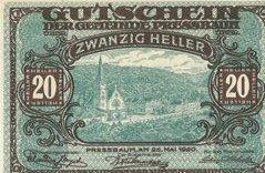 20 ваучеров 1921 года. Германия.