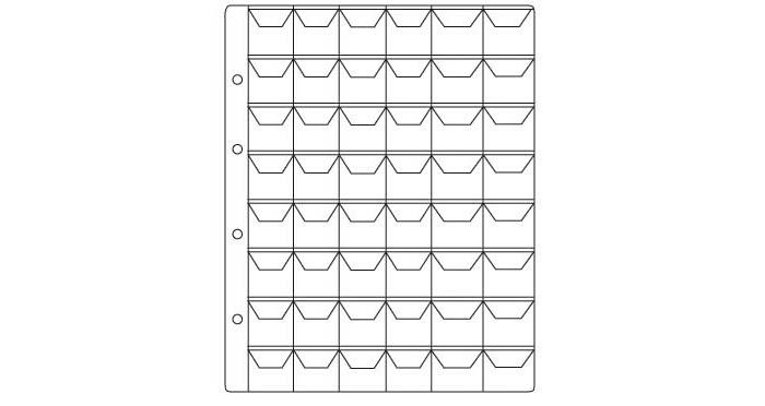 Листы для монет на 48 ячеек