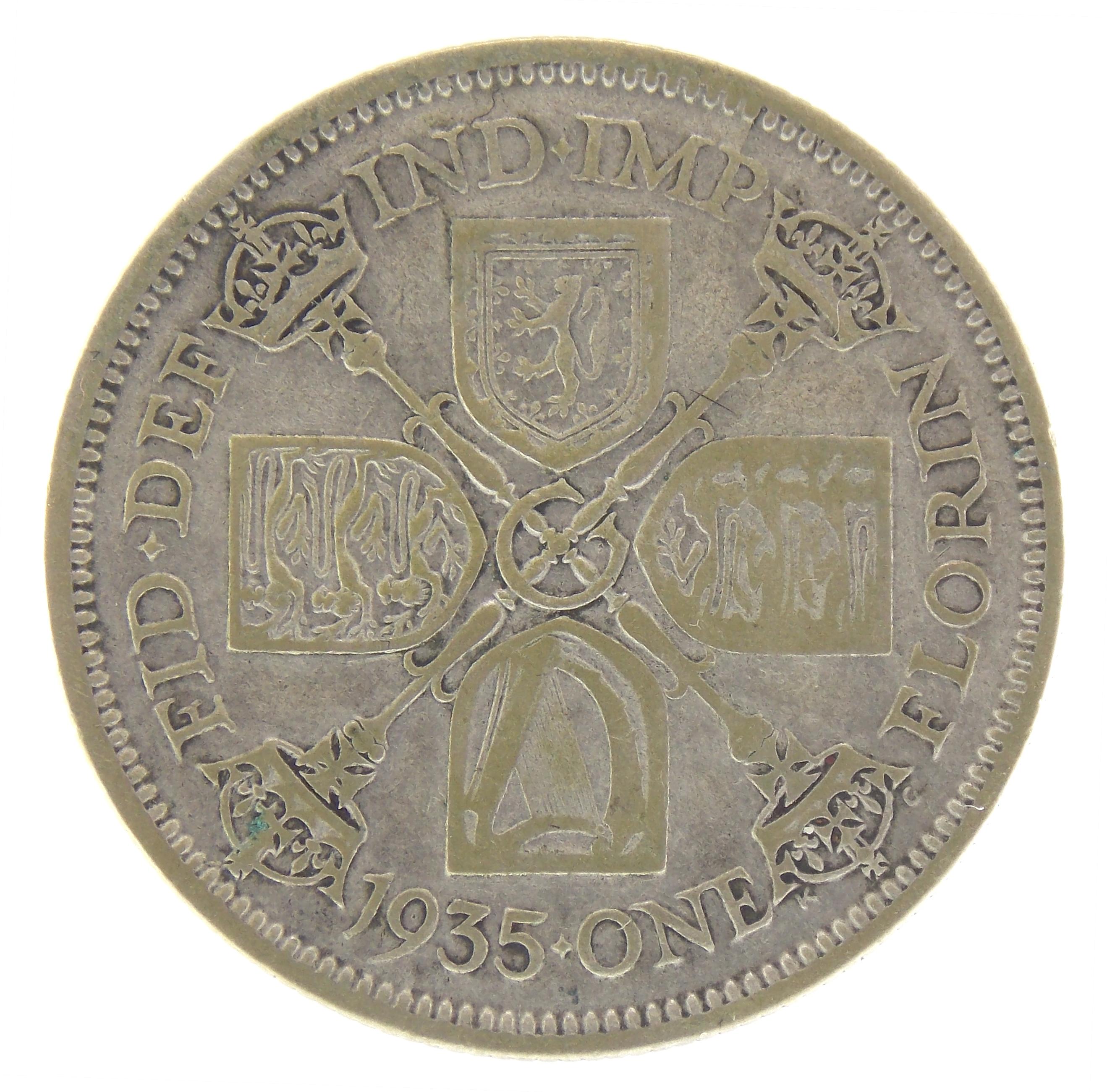2 шиллинга (флорин) 1935 г.
