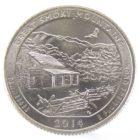 25 центов США 2014 г. «Национальный парк Грейт-Смоки-Маунтинс»