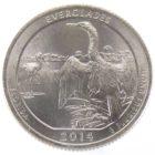 25 центов США 2014 г. «Национальный парк Эверглейдс»