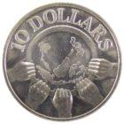 Сингапур. 10 долларов 1977 г. «10 лет независимости»