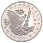 10 марок 1998 г. «350 лет подписания Вестфальского Мирного Договора» J
