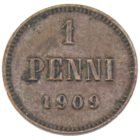 1 пенни 1909 г.