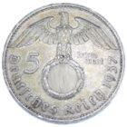 5 рейхсмарок 1937 г. E