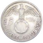 5 рейхсмарок 1938 г. A