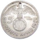 5 рейхсмарок 1938 г. E