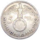 5 рейхсмарок 1938 г. G