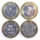 Литва. Набор монет «Города курорты» 2012 г.
