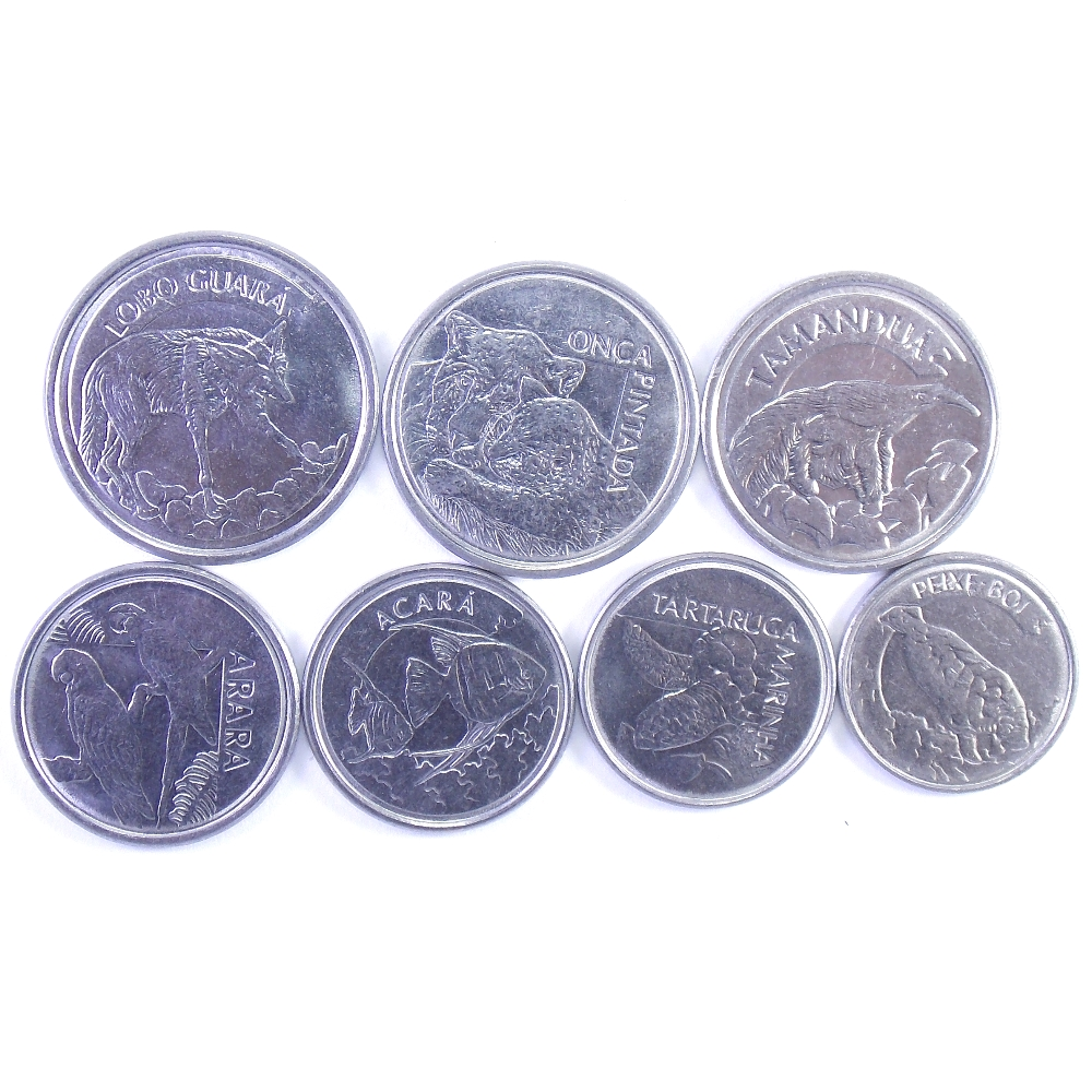 Бразилия. Набор монет 1992-1994 гг.