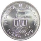 Сан-Марино. 1000 лир 1979 г. «Европейский союз»