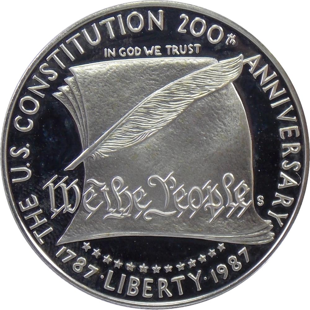 США. 1 доллар 1987 г. «200 лет Конституции США» BU