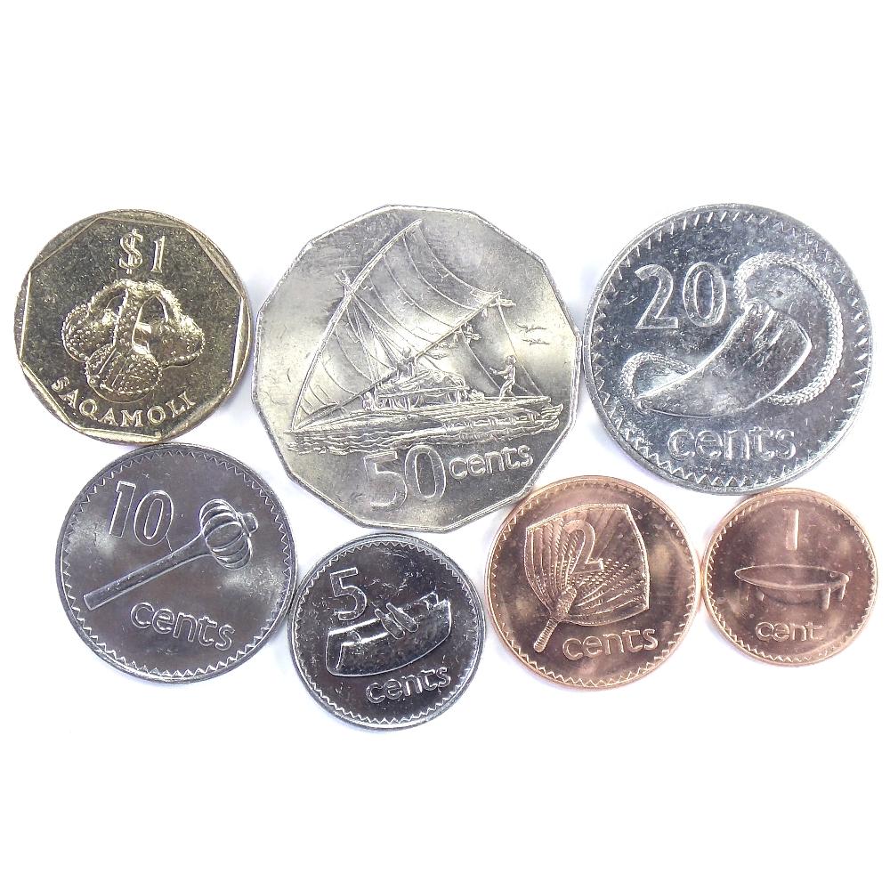 Фиджи. Набор монет 1976-1995 гг. (7 шт.)
