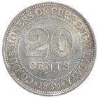Британская Малайя. 20 центов 1939 г.