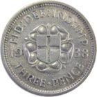 Великобритания. 3 пенса 1938 г.