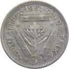 ЮАР. 3 пенса 1951 г.