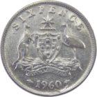 Австралия. 6 пенсов 1960 г.