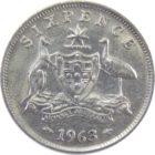 Австралия. 6 пенсов 1963 г.