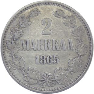 Финляндия. 2 марки 1865 г. S