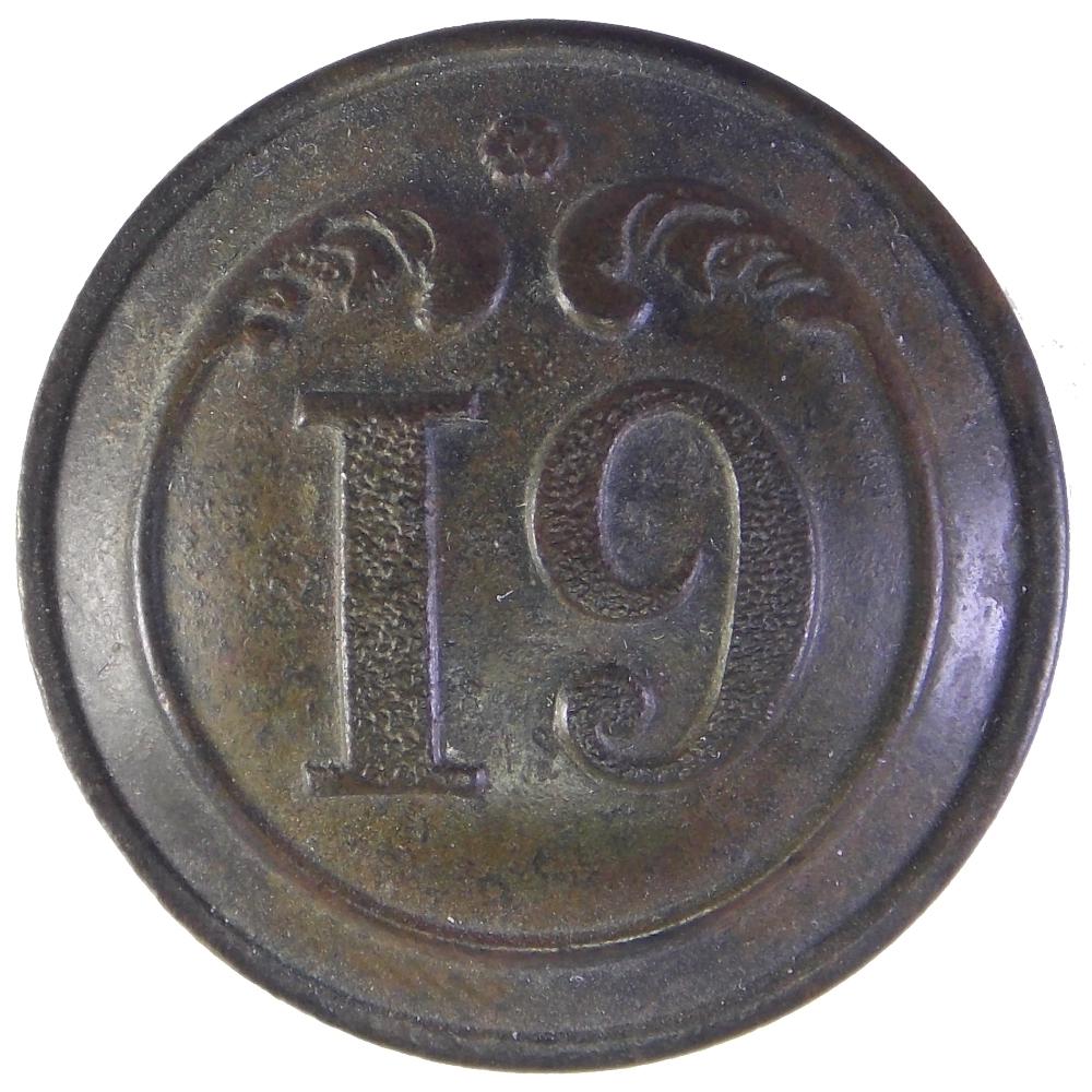 Пуговица. Франция. 19 полк .Крымская война