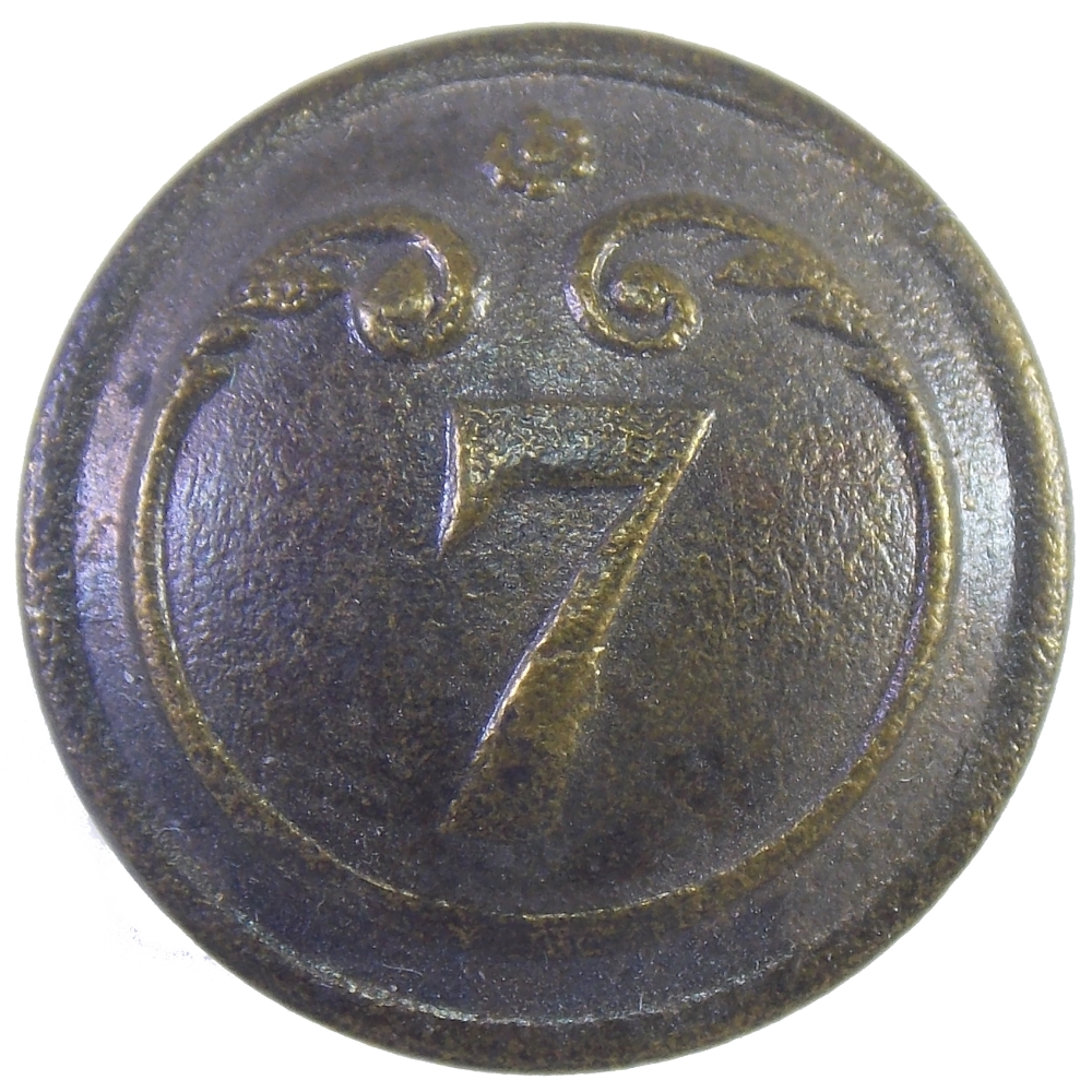 Пуговица малая. Франция. 7 полк .Крымская война.