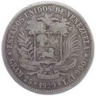 Венесуэла. 5 боливаров 1929 г.
