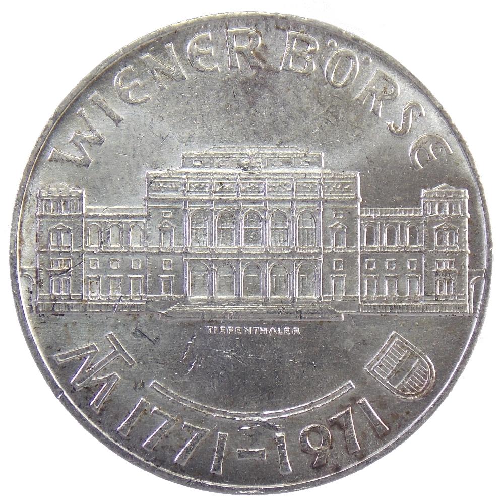 Австрия. 25 шиллингов 1971 г. «200 лет Венской бирже»