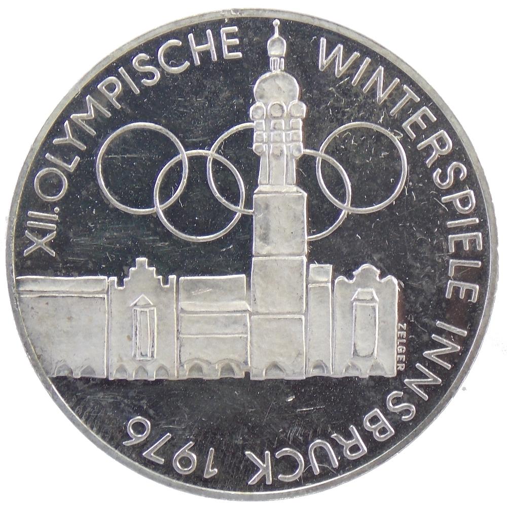 Австрия. 100 шиллингов 1975 г. «Зимние Олимпийские игры. Инсбрук 1976.»