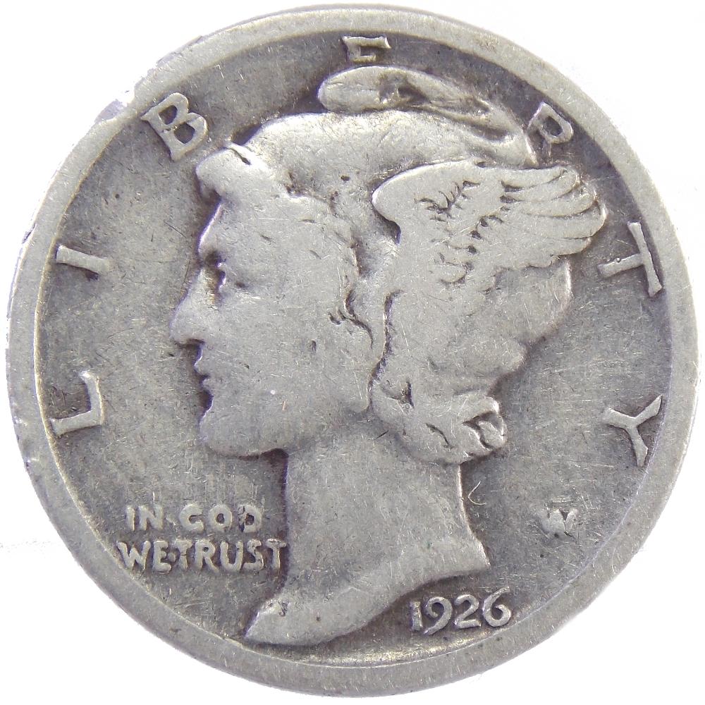 США. 10 центов 1926 г.