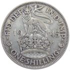 Великобритания. 1 шиллинг 1945 г.