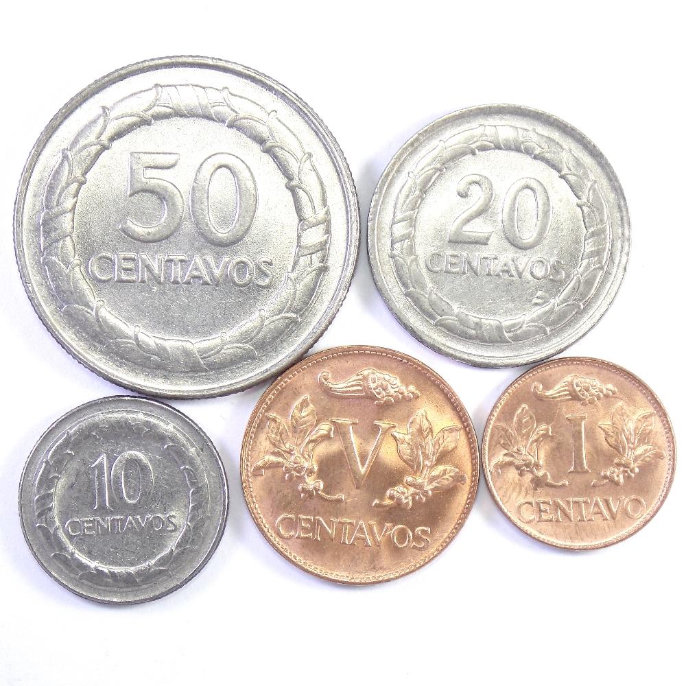 Колумбия. Набор монет 1967-1978 гг.